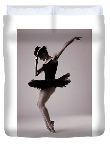 Michael On Pointe Duvet Cover