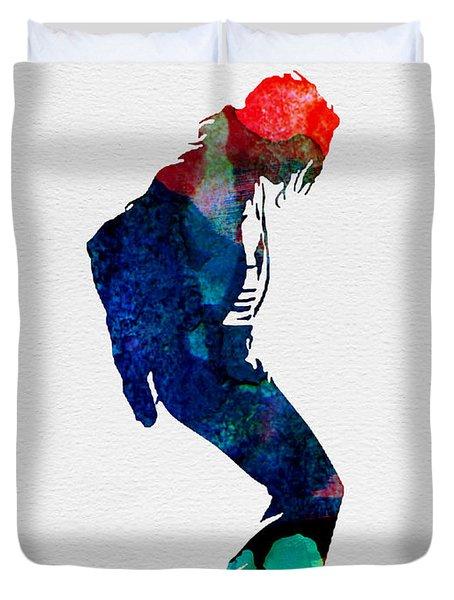 Michael Watercolor Duvet Cover