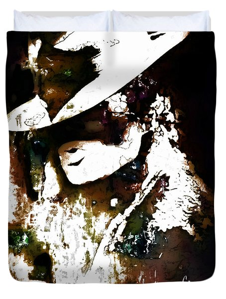 Micheal Jackson Duvet Cover by Lynda Payton