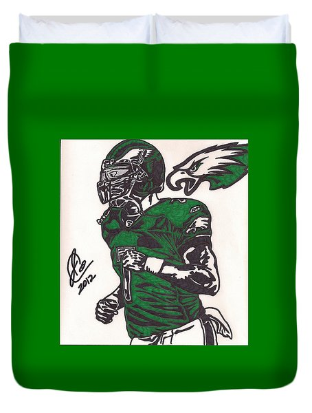 Duvet Cover featuring the drawing Micheal Vick by Jeremiah Colley