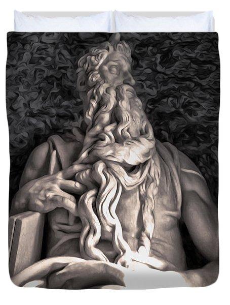 Michelangelo Moses Duvet Cover