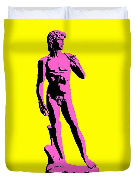 Michelangelos David - Punk Style Duvet Cover by Pixel Chimp