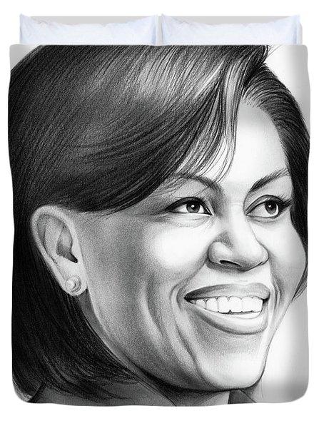 Michelle Obama Duvet Cover by Greg Joens
