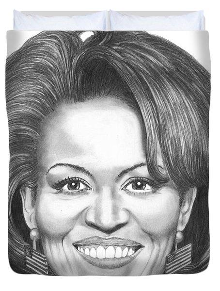 Michelle Obama Duvet Cover by Murphy Elliott