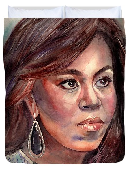 Michelle Obama Portrait Duvet Cover