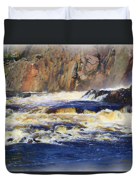 Michigame Falls Duvet Cover