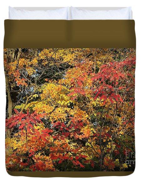 Michigan Autumn Duvet Cover