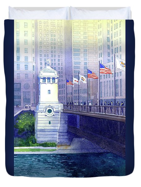 Michigan Avenue Bridge Duvet Cover