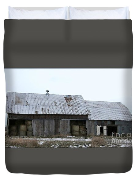 Michigan Barn Duvet Cover by Kathie Chicoine