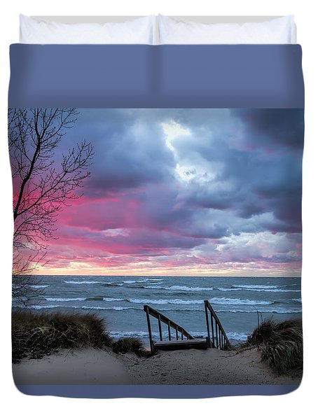 Michigan Beach Douglas Saugatuck Duvet Cover