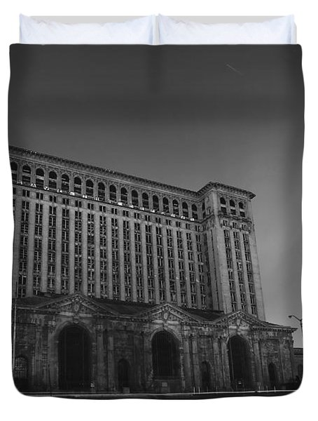 Michigan Central Station At Midnight Duvet Cover by Gordon Dean II