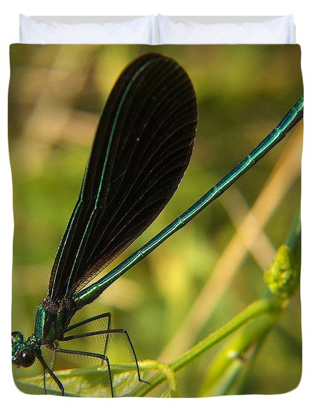 Michigan Damselfly Duvet Cover