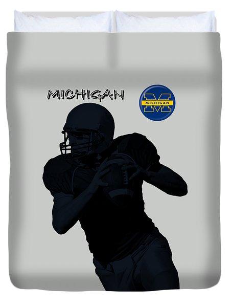 Michigan Football  Duvet Cover by David Dehner
