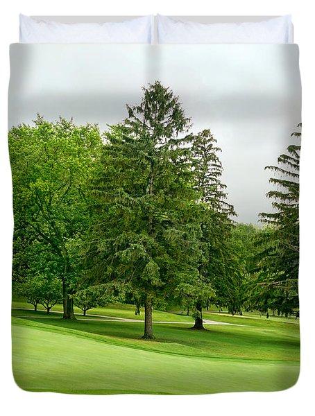 Michigan Green Duvet Cover