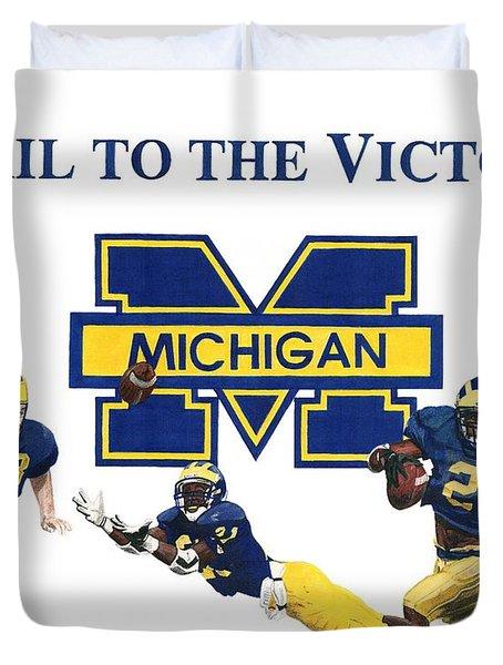 Michigan Heismans Duvet Cover