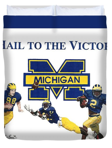 Michigan Heismans Duvet Cover by Chris Brown