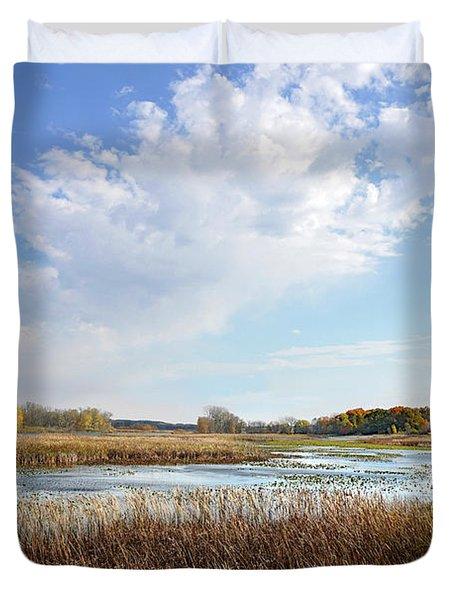 Michigan Marshland Duvet Cover