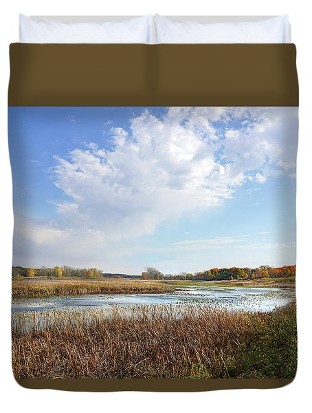 Michigan Marshland Duvet Cover