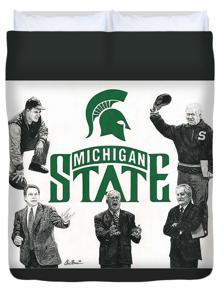 Michigan State Coaching Legends Duvet Cover