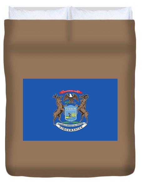 Michigan State Flag Duvet Cover