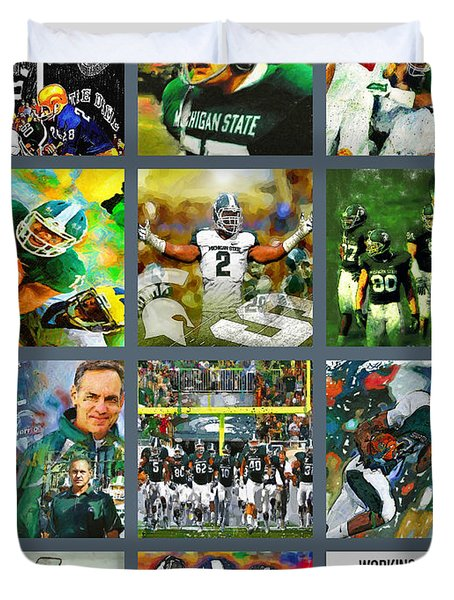 Michigan State Spartans Football Collage Painting By John Farr