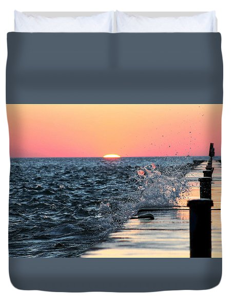 Duvet Cover featuring the photograph Michigan Summer Sunset by Bruce Patrick Smith