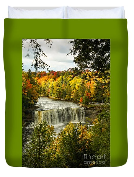 Michigan Waterfall Duvet Cover