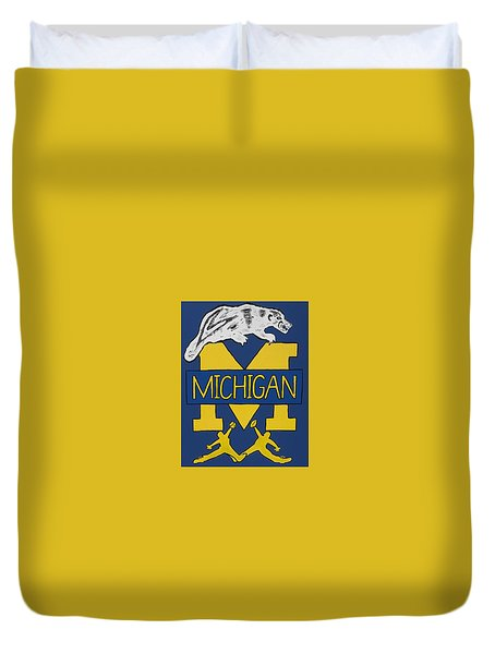Michigan Wolverines Duvet Cover