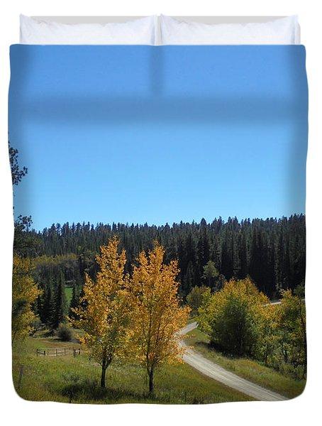 Mickelson Trail Duvet Cover