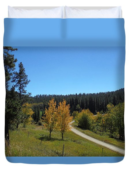 Mickelson Trail Duvet Cover
