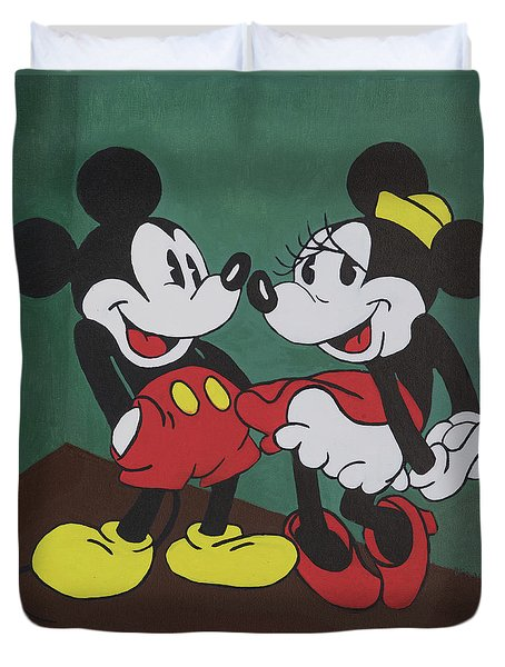 Mickey And Minnie Duvet Cover