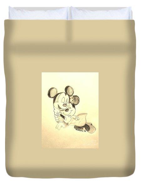 Mickey Minnie Cuddle Buddies - Sepia Duvet Cover