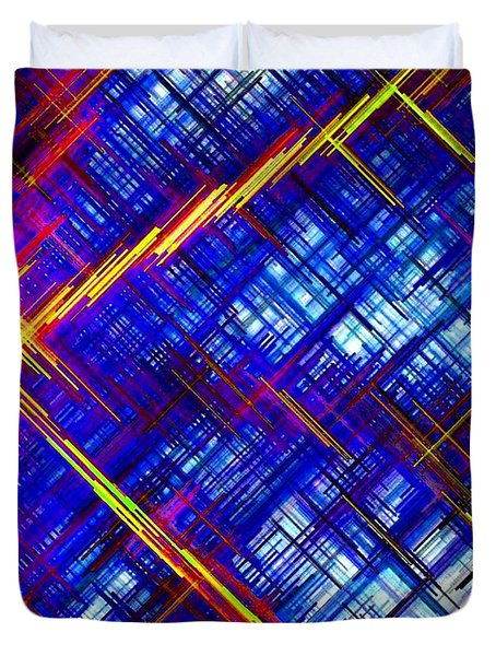 Micro Linear 6 Duvet Cover by Will Borden