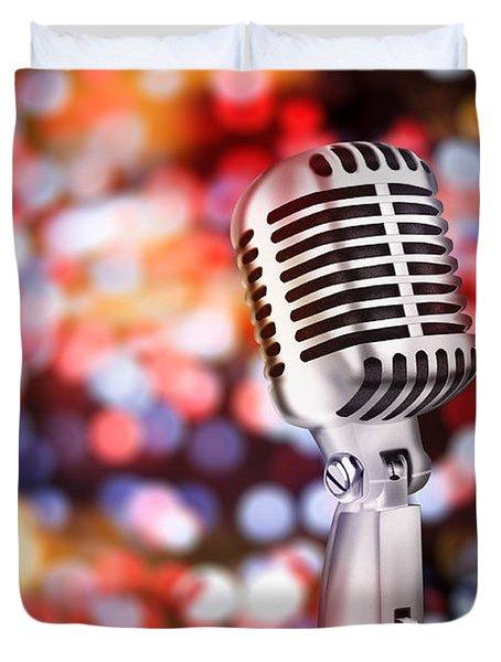 Microphone Duvet Cover by Setsiri Silapasuwanchai