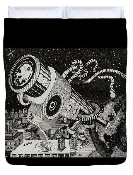 Microscope Or Telescope Duvet Cover