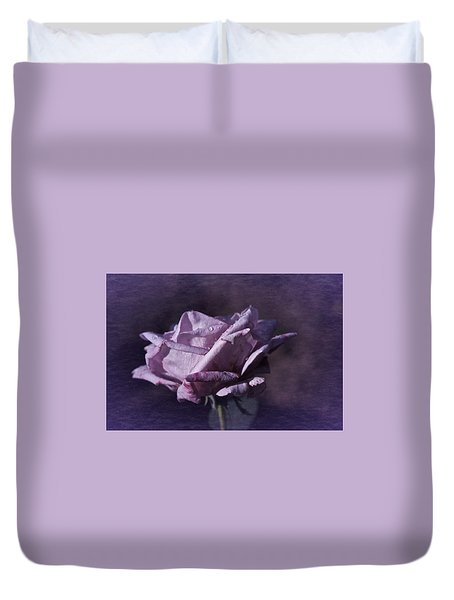 Duvet Cover featuring the photograph Mid September Purple Rose by Richard Cummings