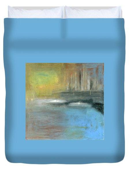 Duvet Cover featuring the painting Mid-summer Glow by Michal Mitak Mahgerefteh