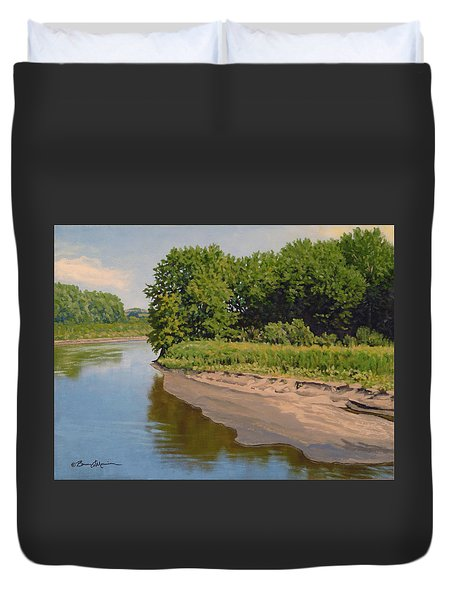 Mid Summer Prairie Stream Duvet Cover