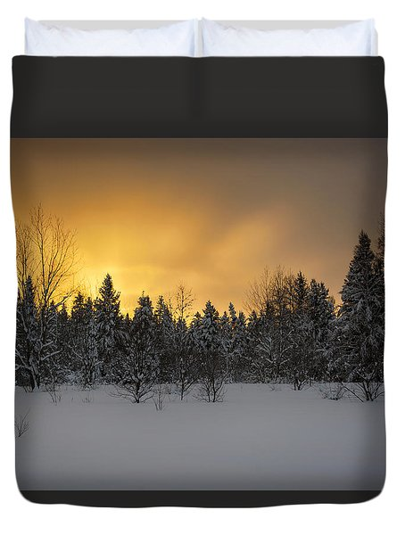 Mid-winter Glow Duvet Cover