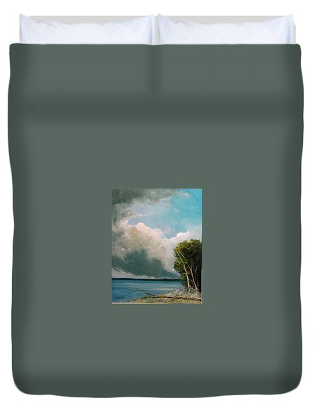 Midday Clouds Duvet Cover