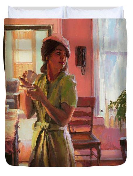 Midday Tea Duvet Cover