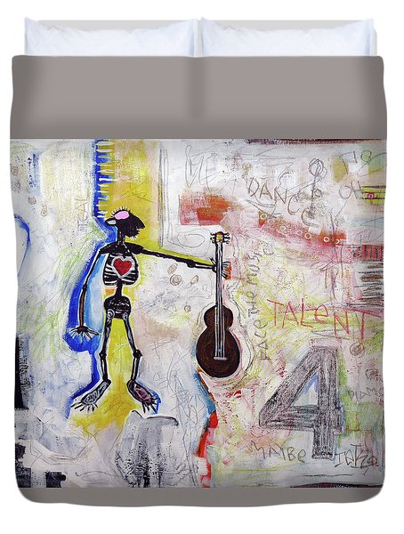 Middle-aged Musician Duvet Cover