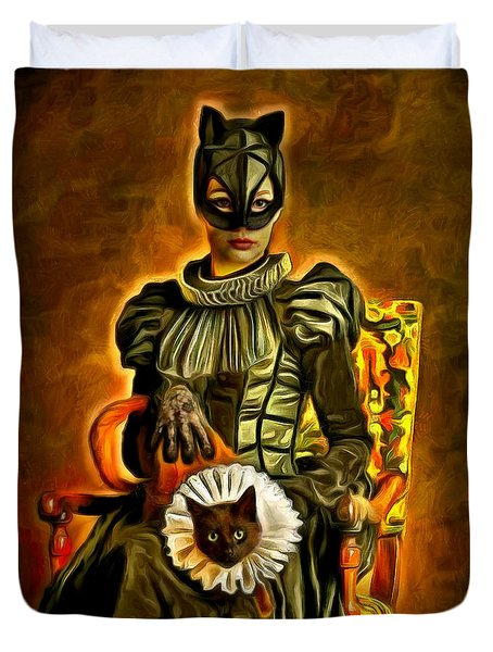 Middle Ages Catwoman - Da Duvet Cover