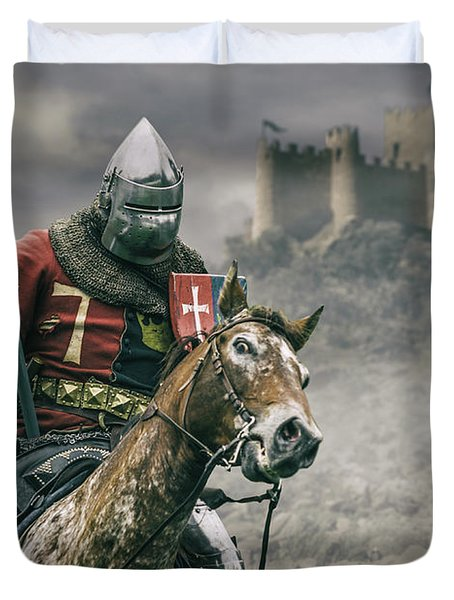 Middle Ages Knight Duvet Cover