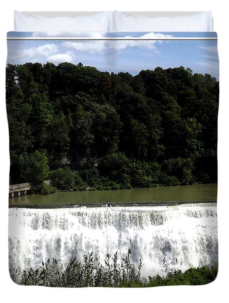 Middle Falls In Rochester New York Duvet Cover by Rose Santuci-Sofranko
