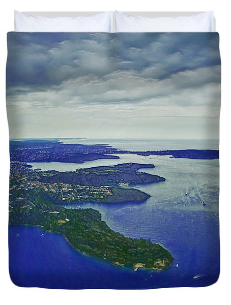 Middle Head And Sydney Harbour Duvet Cover