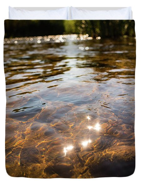 Middle Of The River Duvet Cover