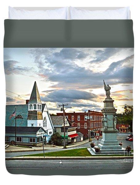 Middlebury Vermont At Sunset Duvet Cover