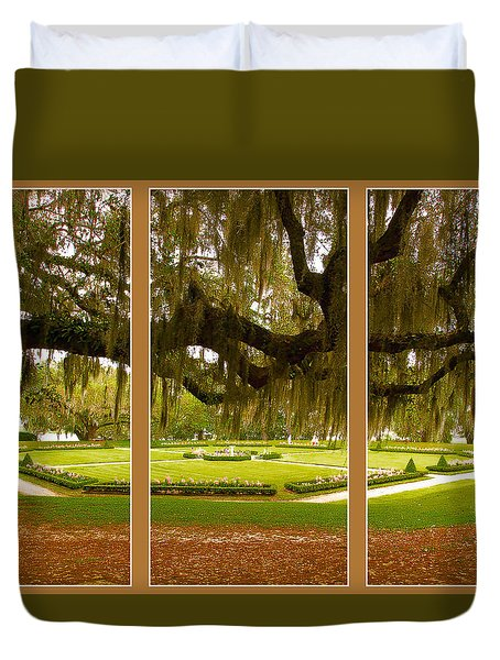 Middleton Gardens Triptych Duvet Cover by Bill Barber