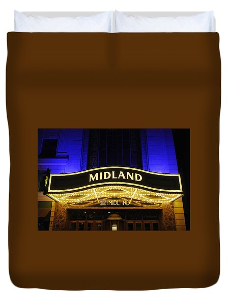 Midland Theater Duvet Cover
